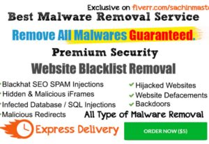 I will remove malware or Virus FAST from Any WordPress Site