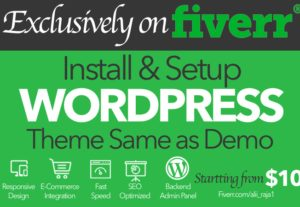I will install WordPress Theme and Setup Exactly like Demo in 3 hrs