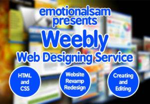 I will design, Revamp or Edit your Weebly Website In 24 Hours