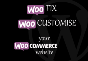 I will fix any woocommerce issue