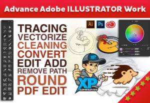 I will do Adobe Illustrator work