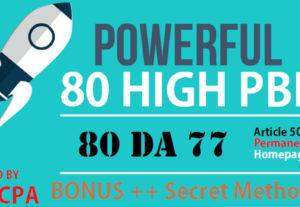 Build 5 Manual Dofollow DA 77 Plus Homepage PBN Post Backlinks