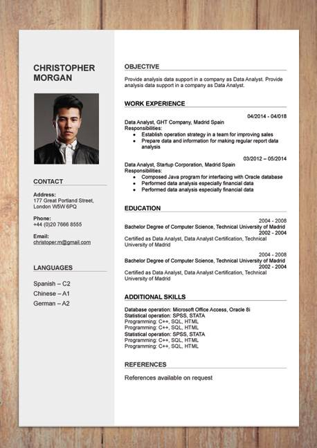 i will create a well designed cv service by best graphic